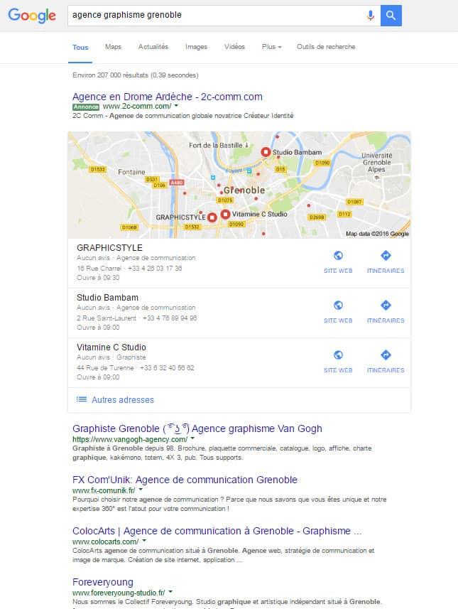 positionnement dans google