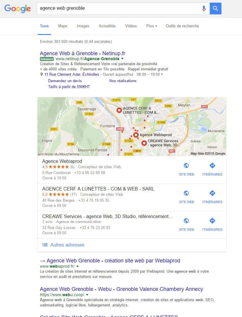 positionnement 1er dans google